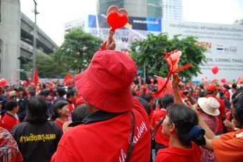 Bangkok, 19 September 2010. Rassemblement des Chemises rouges. © Takeaway