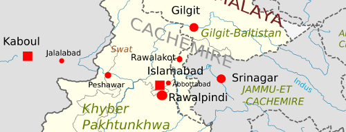 Carte région de Swat